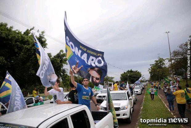 Manifestação pró Bolsonaro deve reunir  3 mil pessoas em Campo Grande