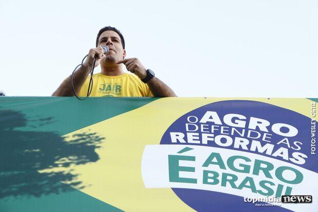 Aliado de Bolsonaro em MS, Capitão Contar diz que 'Campo Grande cumpriu sua missão'