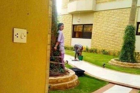 Patrões amarram empregada doméstica em árvore como punição
