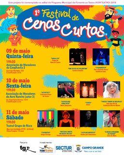 Começa hoje o 1º Festival de Cenas Curtas de Campo Grande