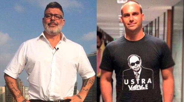 """Alexandre Frota e Eduardo Bolsonaro protagonizam novo embate no PSL: """"ele pegou carona no pai"""""""