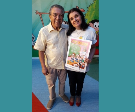 Gibi da Turma da Mônica com personagem com distrofia muscular é distribuído em Campo Grande