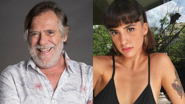 """""""Se sente bem comigo"""", diz José de Abreu sobre namorada 51 anos mais nova"""