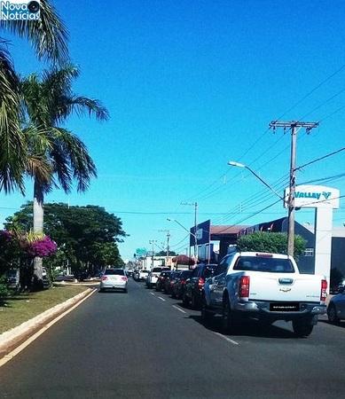 'Buzinaço' em prol a Bolsonaro atrai 30 veículos em Nova Andradina