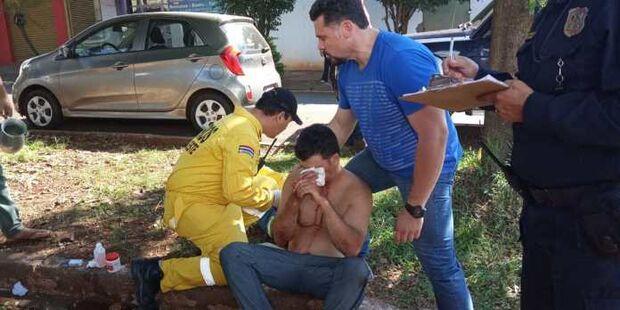 Imagens fortes: usuário de droga, brasileiro arranca o próprio olho com o dedo na fronteira