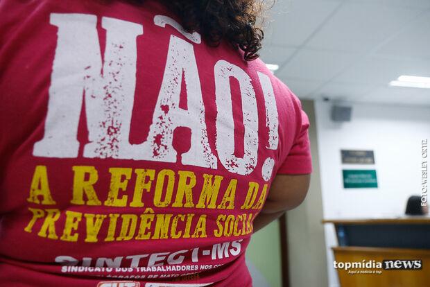 'Não somos os vilões': contra Reforma da Previdência, trabalhadores ameaçam greve geral em MS