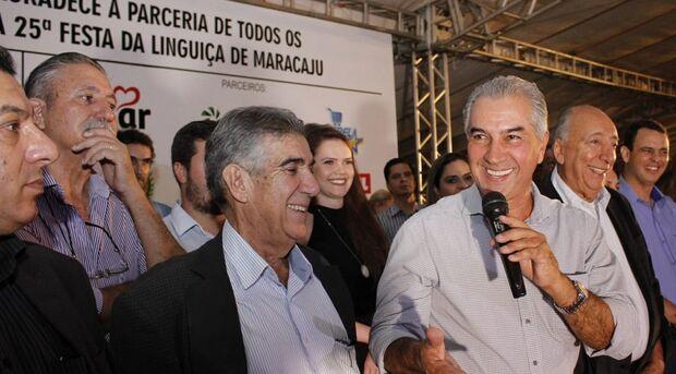Tradição da Festa da Linguiça de Maracaju é lembrada por governadores