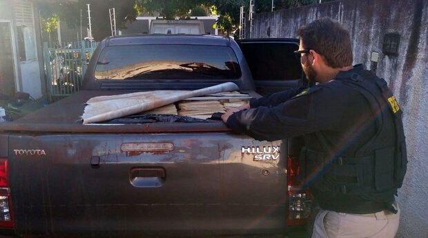 PRF atende ocorrência de batida e descobre 1,7 tonelada de maconha na BR-463
