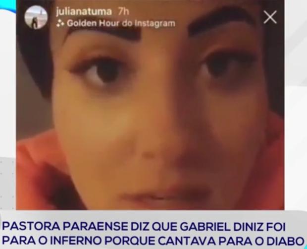 Pastora diz que Gabriel Diniz foi para o inferno e revolta seguidores