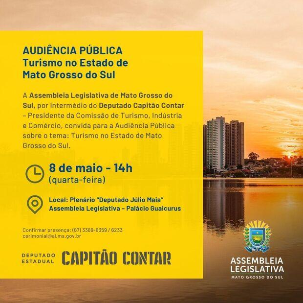 Pensando em valorizar as belezas do Estado, Capitão Contar promove audiência sobre turismo