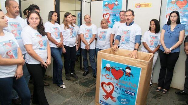 Servidores da Sesau se mobilizam para arrecadar agasalhos e cobertores