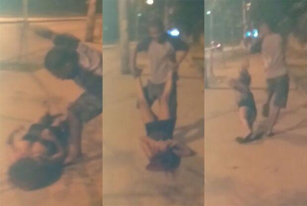 Covarde! Mulher é brutalmente agredida por homem enquanto esperava por ônibus