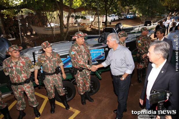 Governador entrega equipamentos e PMA inicia operação com nova estrutura em MS