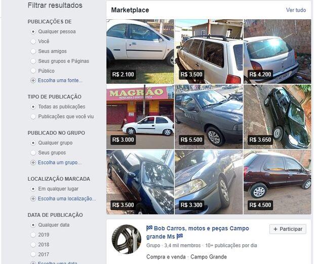 Negócio arriscado: venda de carros 'bob' se espalha na internet em Campo Grande