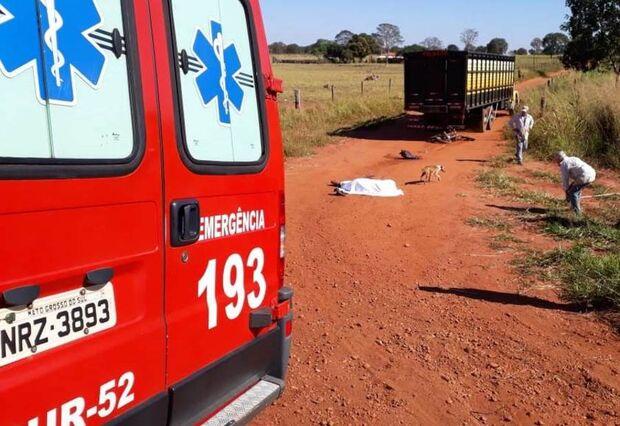 Motociclista sofre grave acidente e vítima morre antes de ser socorrida