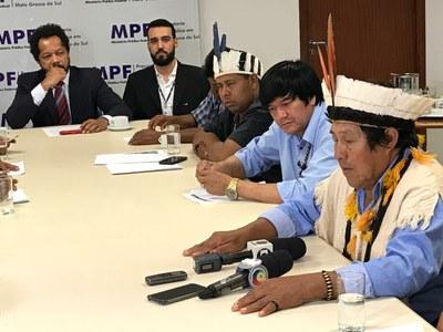 MPF e liderenças indígenas se reúnem com governo para apontar situação críticas em MS