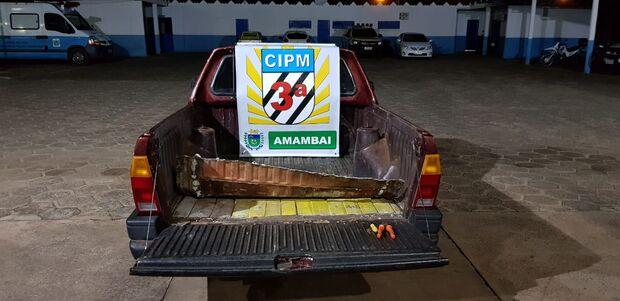 Polícia Militar suspeita de carro com problemas na rodovia e apreende 99 quilos de maconha