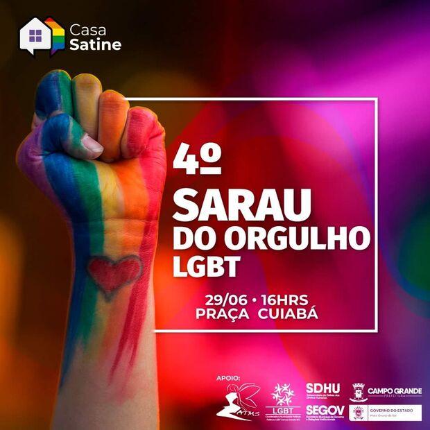 Sarau do Orgulho LGBT acontece nesse sábado em Campo Grande