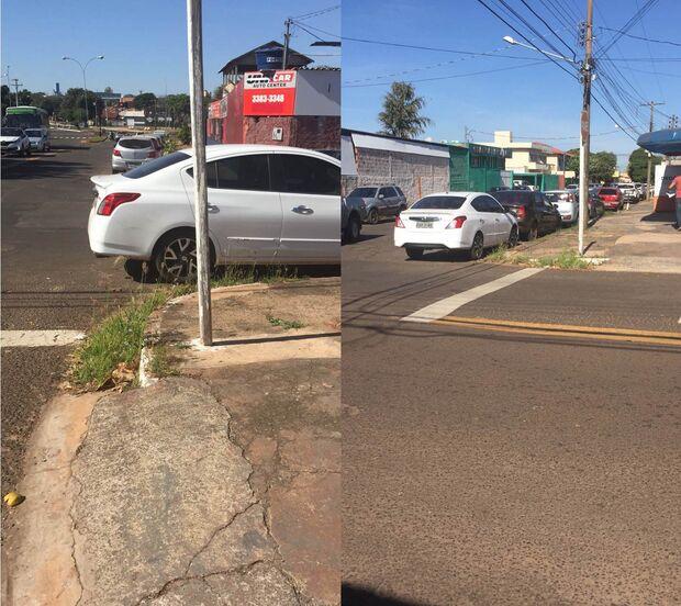 Leitor flagra carro estacionado na esquina e cobra fiscalização nos arredores do IMPCG