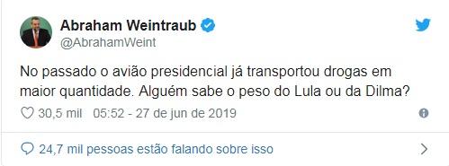 Ministro da Educação faz piada sobre droga em avião da FAB e ataca Lula e Dilma