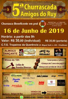 5ª Churrascada Amigos do Ruy acontece neste domingo