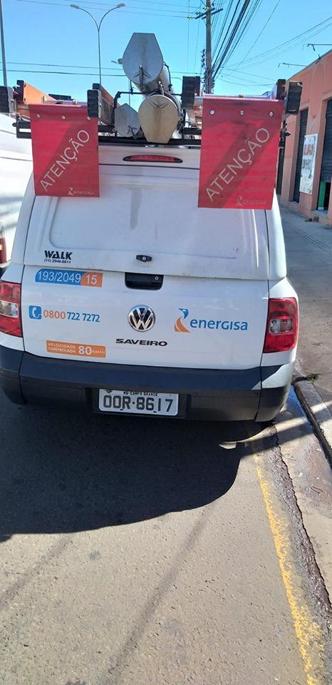 Leitor flagra veículo da Energisa estacionado em local proibido em Campo Grande