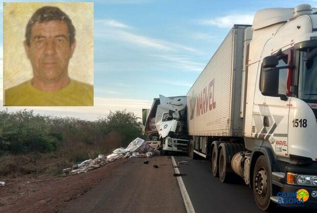 Identificado motorista morto em batida entre carretas na BR-163