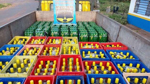 Acabou a festa: polícia apreende mais de 3,4 mil unidades de bebidas sem documentação