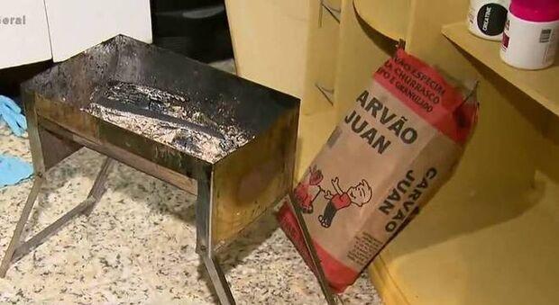 Família achada morta teria usado churrasqueira para se aquecer