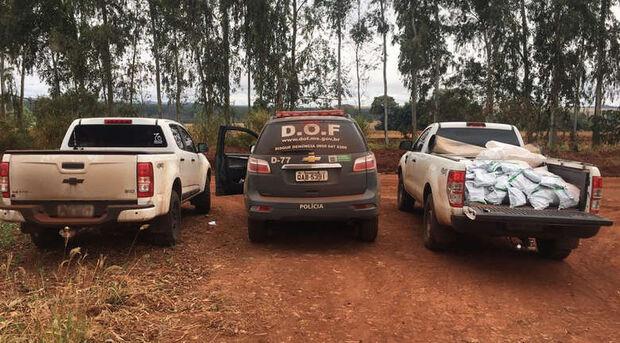 Homens são flagrados pelo DOF com 380kg de agrotóxicos contrabandeados