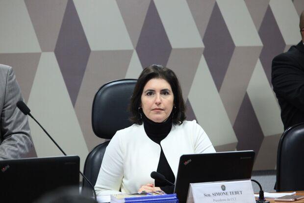 Com ajuda de Simone, Senado aprova criminalização do Caixa 2 e avança com Pacote Anticrime