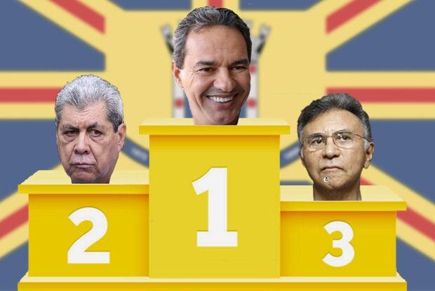 PREFEITURA 2020: Marquinhos lidera a corrida, com André em segundo e Odilon terceiro