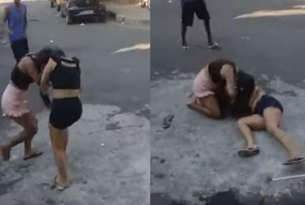 VÍDEO: mulher mata amante do pai espancada e pessoas filmam a briga