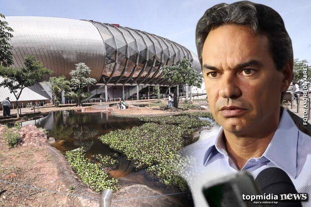 Com aeroporto, estádio e praças em reforma, prefeito critica enrolação do Aquário do Pantanal