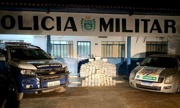 Vale R$ 41 milhões: PM barra carregamento com 328 kg de cocaína