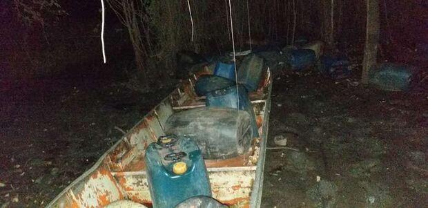 Polícia intercepta contrabando de 1.100 litros de combustível na fronteira
