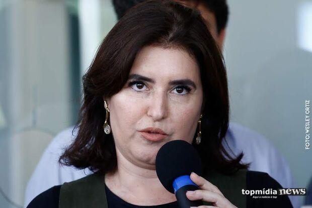 """""""Bolsonaro pode ajudar ficando calado"""", diz Simone Tebet sobre votação da Previdência"""