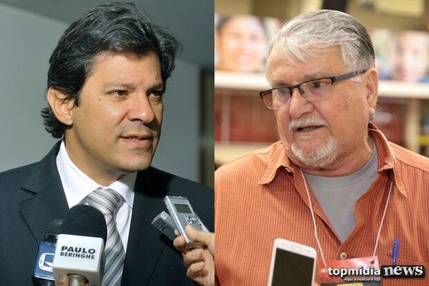 Haddad visita Campo Grande para discutir projeto do PT e candidatura à prefeitura
