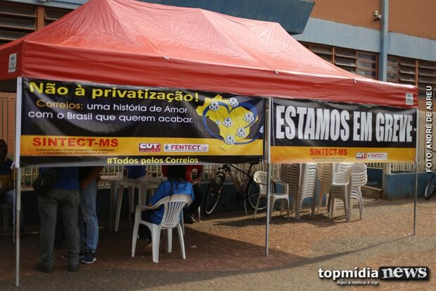Em MS, funcionários dos Correios aderem à paralisação nacional