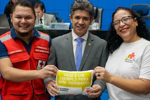 Deputado destaca trabalho psicossocial da Cruz Vermelha em MS