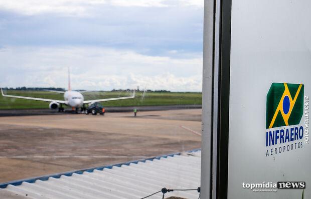 Aeroporto de Campo Grande opera sem restrições neste domingo