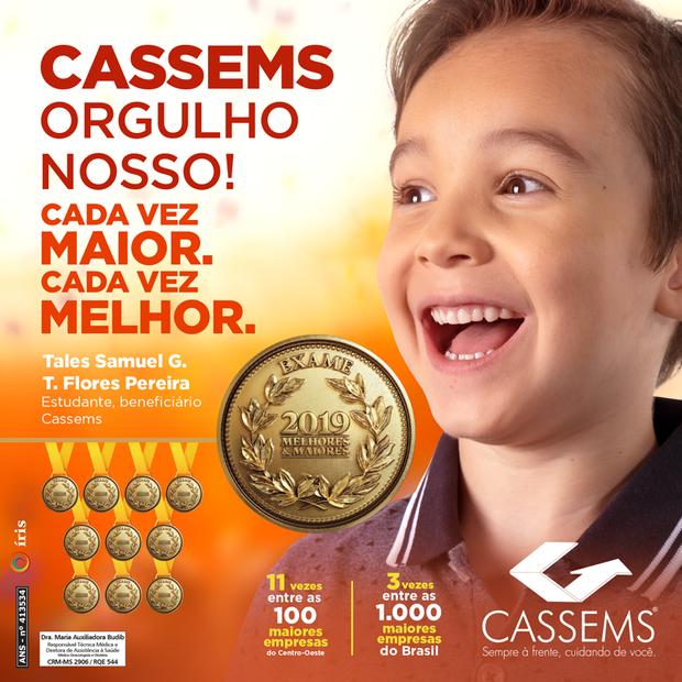 Pelo terceiro ano consecutivo, Cassems se destaca entre as melhores e maiores empresas do Brasil