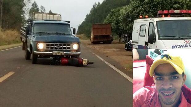 Motociclista é atingido por caminhonete e morre na MS-145