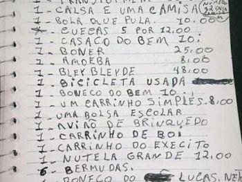 Lista de presentes de menino de 9 anos viraliza e comove internautas