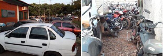 Pátio do Detran lota e não consegue mais abrigar veículos apreendidos