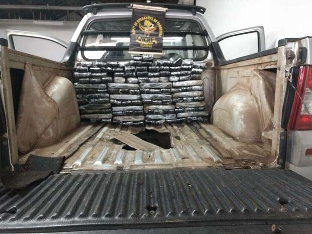 Polícia prende em flagrante homem que tentava levar mais de 100kg de maconha para SP
