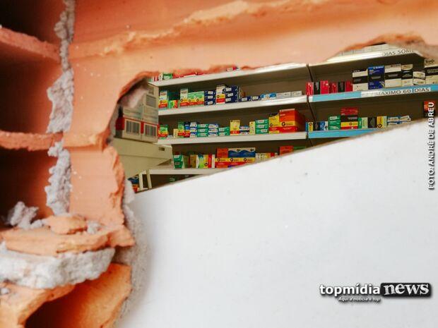 Bandidos invadem farmácia em Campo Grande com serra elétrica
