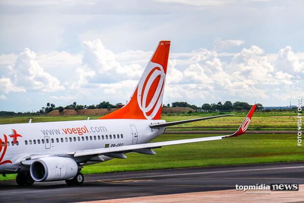 Aeroporto opera sem restrições e tem quatro voos programados para este sábado em Campo Grande