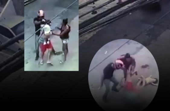 Cenas fortes: homem é executado com bebê no colo