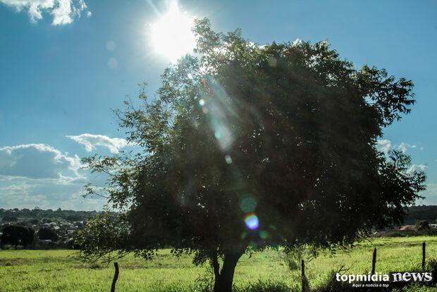 Sol aparece em Campo Grande nesta quarta-feira e chuva fica para o fim de semana